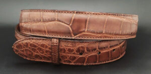 Alligator Belt Strap, Matte Chocolate