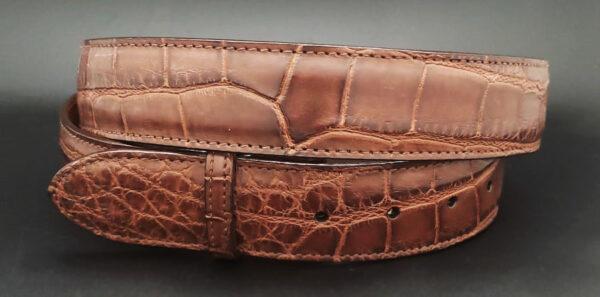 Alligator Belt Strap, Matte Chocolate