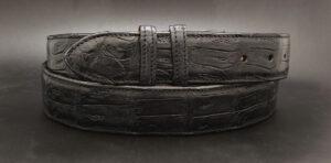 Crocodile Belt Strap, Matte Black