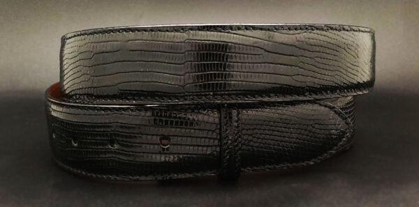 Lizard Belt Strap, Black