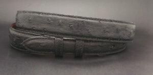 Ostrich Belt Strap, Black