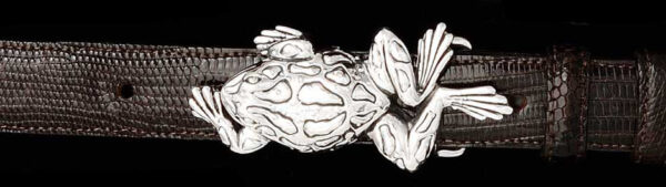 Frog buckle, Sterling Silver