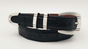 "RS88S 1-1/4"" MARTIN (SATIN) on a BLK MATTE CROC belt"
