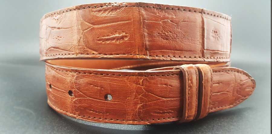 Custom Alligator ognac belt only