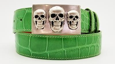 Lime green skulls