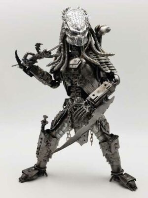 Large Predator inspired Metal Sculpture w/mask