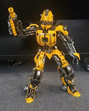 Bumblebee inspired metal sculpture, LARGE