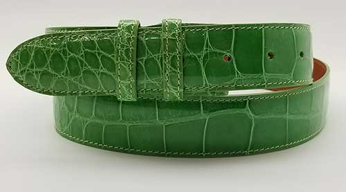 Custom Lime Green alligator belt