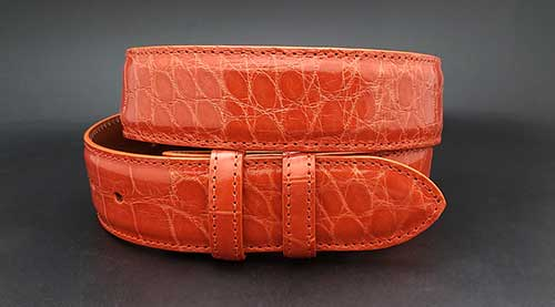 Custom Orange Alligator belt