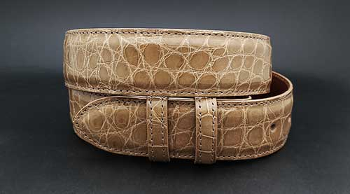 Tan Alligator custom belt