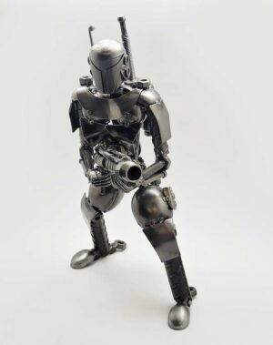 Boba Fett inspired recycled metal art