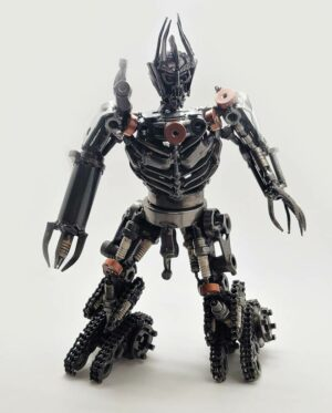 Megatron inspired Recycled Metal Sculpture medium